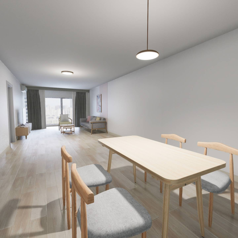 北京整租SOHO现代城租房户型实景图